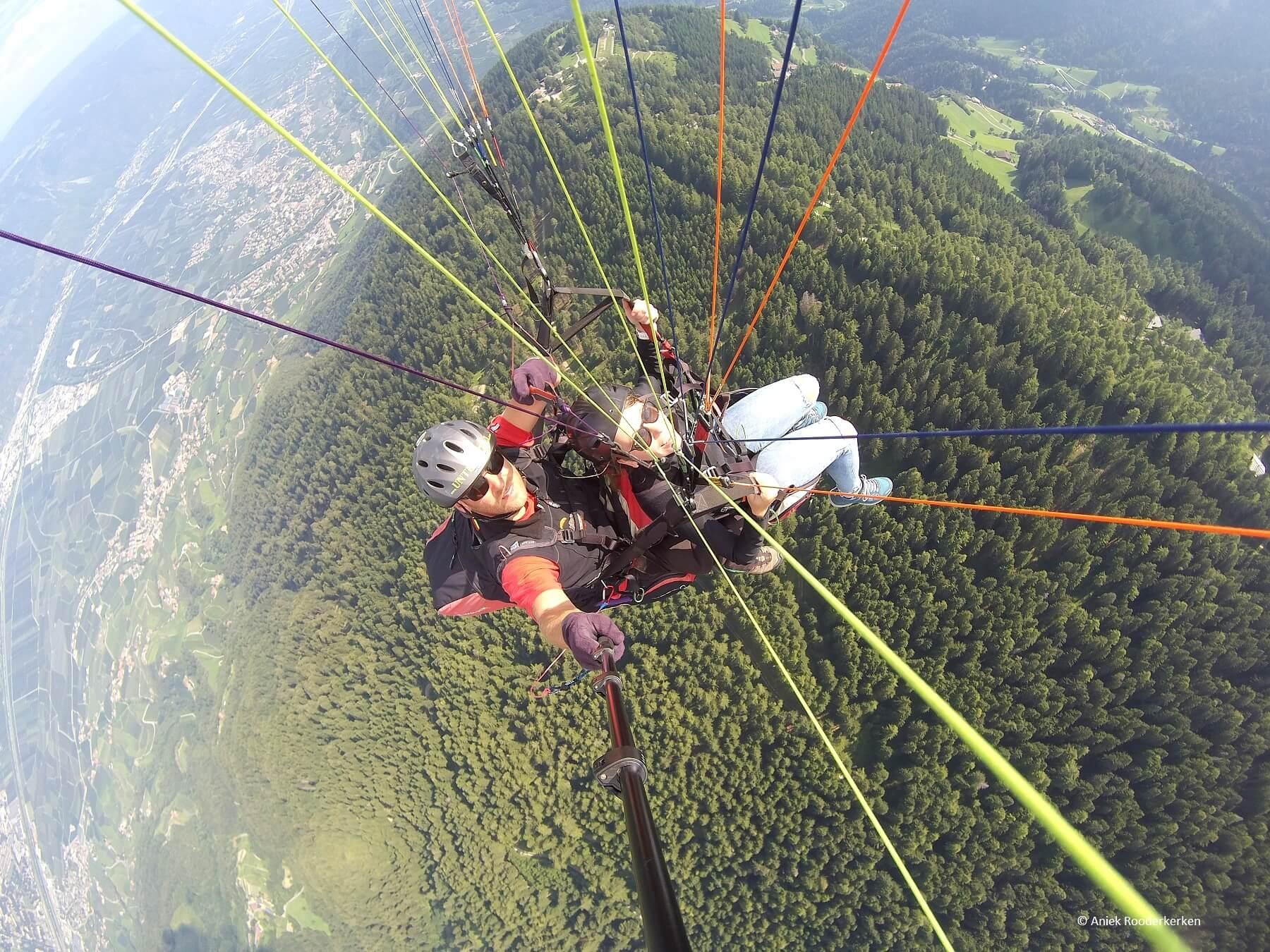 Paragliding in Zuid-Tirol